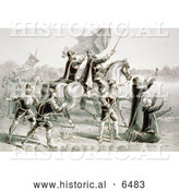 Historical Illustration of the Discovery of the Mississippi by De Soto, and His Followers 1541 by Al