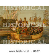 Historical Illustration of the First Voyage 1492 by Al