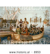 Historical Illustration of the First Voyage of Christopher Columbus by Al
