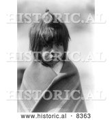 Historical Image of Chemehuevi Indian Boy 1907 - Black and White Version by Al
