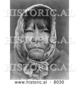 Historical Image of Datsolali, Washo Native American 1924 - Black and White by Al