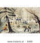 Historical Image of the Landing of the Pilgrims at Plymouth - Color Version 1620 by Al