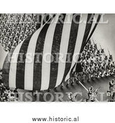 Historical Photo of American Military Parade - Independence Day - Black and White by Al
