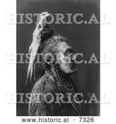 December 13th, 2013: Historical Photo of Apsaroke Native American Man Called Two Whistles 1908 - Black and White by Al