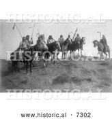 December 13th, 2013: Historical Photo of Apsaroke Natives on Horseback 1908 - Black and White by Al