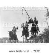 December 13th, 2013: Historical Photo of Apsaroke War Group 1905 - Black and White by Al