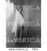 Historical Photo of Atsina Native Woman 1908 - Black and White by Al