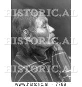 Historical Photo of Chinook Woman's Profile 1910 - Black and White by Al