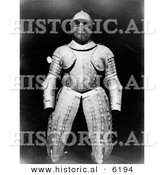 Historical Photo of Christopher Columbus' Armour Suit - Black and White Version by Al