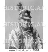 December 13th, 2013: Historical Photo of Crow Native American Man Called Forked Iron 1908 - Black and White by Al