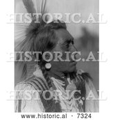 December 13th, 2013: Historical Photo of Hidatsa Native American Man Called Rabbit Head 1908 - Black and White by Al