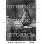 Historical Photo of Kokomish Indian Chief's Daughter 1913 - Black and White by Al