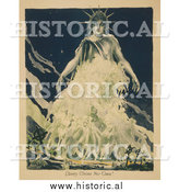 Historical Photo of Liberty Gathering Fallen Soldiers - Vintage Military War Poster by Al