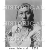 December 13th, 2013: Historical Photo of Long Time Dog, a Hidatsa Native American 1908 - Black and White by Al