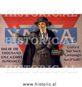Historical Photo of Military YMCA - Vintage Military War Poster 1918 by Al