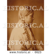 December 14th, 2013: Historical Photo of Profile of a Cheyenne Native Woman 1905 - Sepia by Al