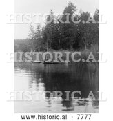 Historical Photo of Quamichan Canoe 1910 - Black and White by Al