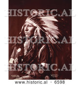 Historical Photo of Sioux Native American Indian, Shout at 1899 - Sepia by Al