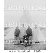 December 13th, 2013: Historical Photo of Sitting Bull's Family 1891 - Black and White by Al