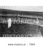 December 13th, 2013: Historical Photo of the Grave of Sitting Bull 1906 - Black and White by Al