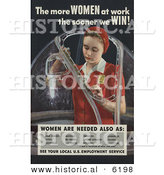Historical Photo of the More Women at Work the Sooner We Win - See Our Local U.S. Employment Service by Al