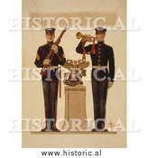 Historical Photo of Two Marine Soldiers - Vintage Military War Poster 1917 by Al