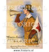 Historical Photo of Woman Recruiting for the Navy - Vintage Military War Poster 1916 by Al