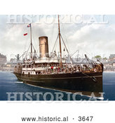 Historical Photochrom of the Steamer Boat Lydia by Al