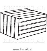 Illustration of a Crate Animal Trap - Black and White by Al