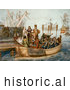 Historical Illustration of the First Voyage of Christopher Columbus by JVPD