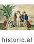 Historical Illustration of the Landing of Columbus October 11th 1492 by JVPD